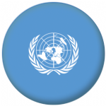 United Nations 58mm Button Badge